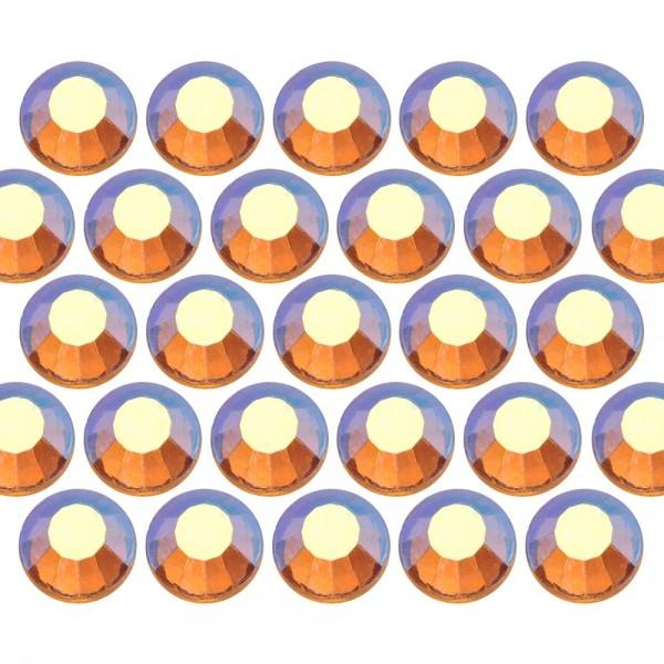 Dżety szklane SS6 (2mm) AB Topaz