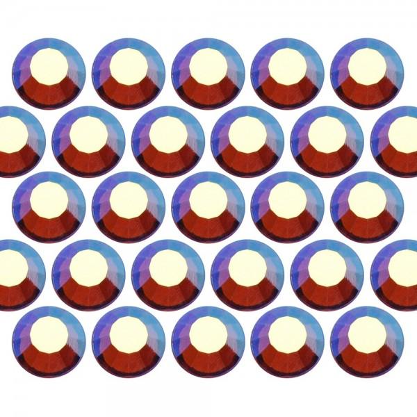 Dżety szklane SS6 (2mm) AB Sm. Topaz