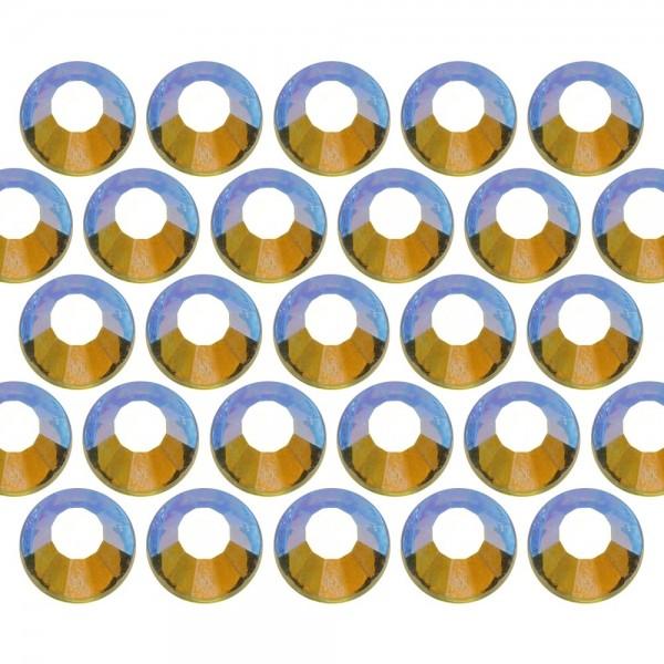 Dżety szklane SS6 (2mm) AB Peridot