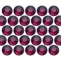 Glass rhinestone beads SS10 (3mm) Amethyst