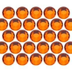 Glass rhinestone beads SS10 (3mm) Orange