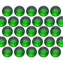 Dżety szklane SS10 (3mm) Emerald