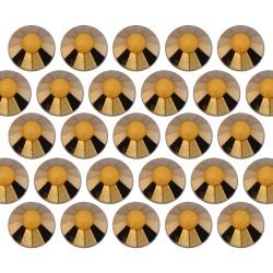 Dżety szklane SS10 (3mm) Gold Hematite