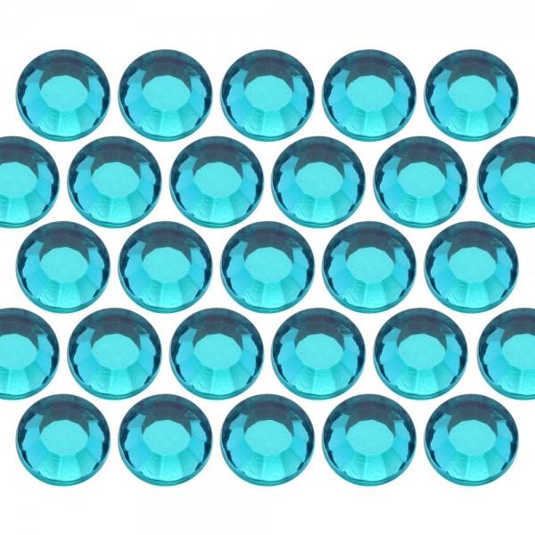 Dżety szklane SS10 (3mm) Blue Zircon
