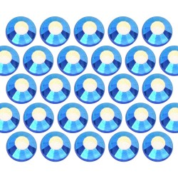 Dżety szklane SS10 (3mm) AB Sapphire