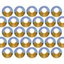 Dżety szklane SS10 (3mm) AB Peridot
