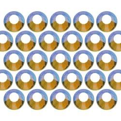 Dżety szklane SS16 (4mm) AB Peridot