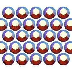 Dżety szklane SS16 (4mm) AB Sm. Topaz