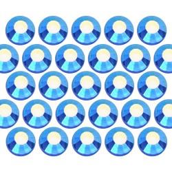 Dżety szklane SS16 (4mm) AB Sapphire