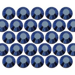 Dżety szklane SS16 (4mm) Blue Hematite