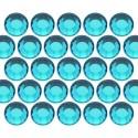 Dżety szklane SS16 (4mm) Blue Zircon
