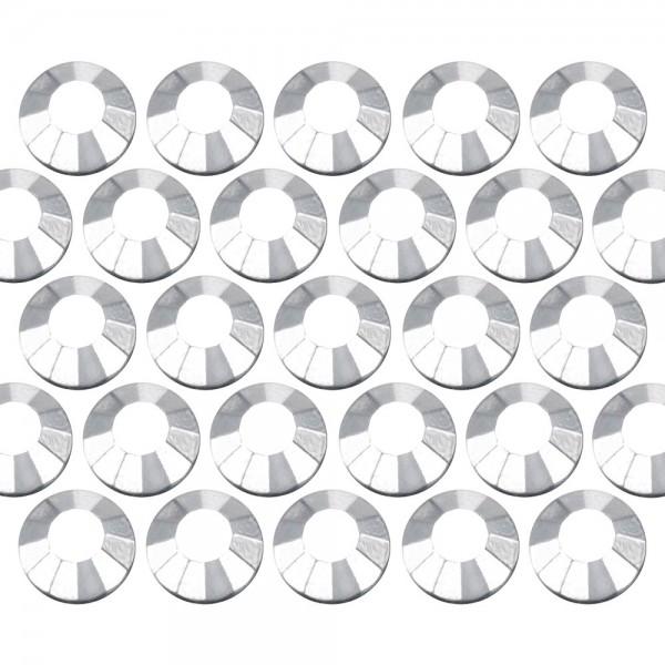Dżety szklane SS16 (4mm) Silver Hematite