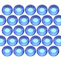 Dżety szklane SS16 (4mm) Sapphire