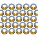 Dżety szklane SS20 (5mm) AB Peridot