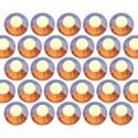 Dżety szklane SS20 (5mm) AB Topaz