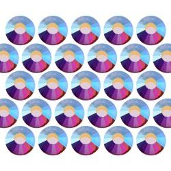 Dżety szklane Pellosa SS10 (3mm) AB Crystal 50 gross (7200 szt.)