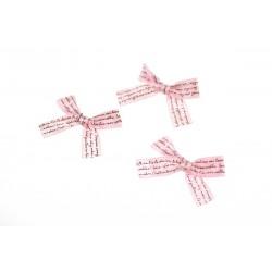 Kokardka atłasowa 25x40 mm Różowa