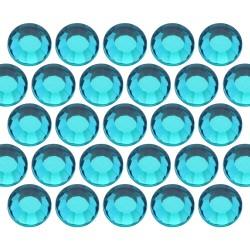 Dżety szklane SS30 (6mm) Blue Zircon