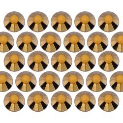 Dżety szklane SS30 (6mm) Gold Hematite