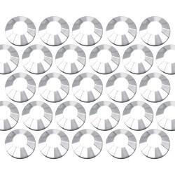 Dżety szklane SS30 (6mm) Silver Hematite