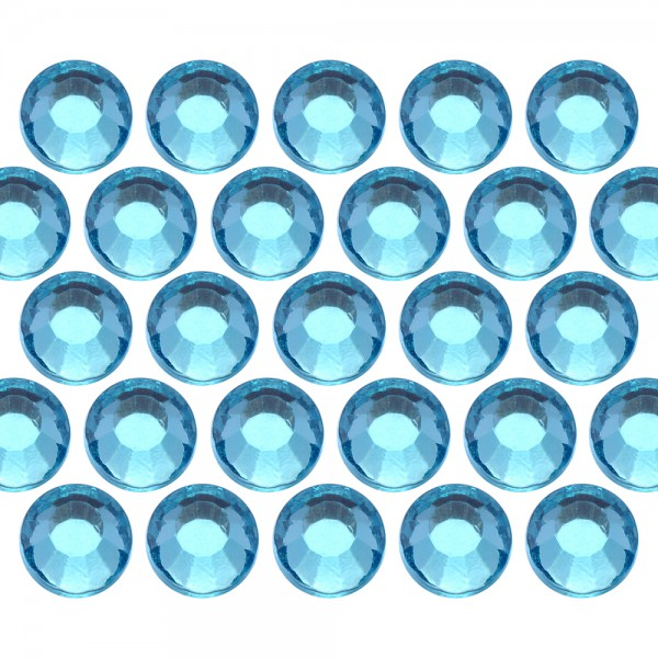Dżety szklane SS30 (6mm) Lt. Aquamarine