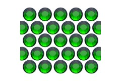 Dżety szklane SS30 (6mm) Emerald