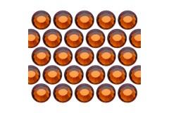 Glass rhinestone beads SS30 (6mm) Sm. Topaz