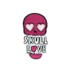 """Naprasowanka Aplikacja Termo Czaszka """"Skull Love"""" AT004"""