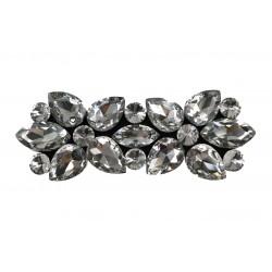 Elegancka aplikacja z kamieniami na filcu Przezroczyste (Crystal)