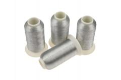 Nici metalizowane do haftu ROYAL AS001 Ciemny Srebrny