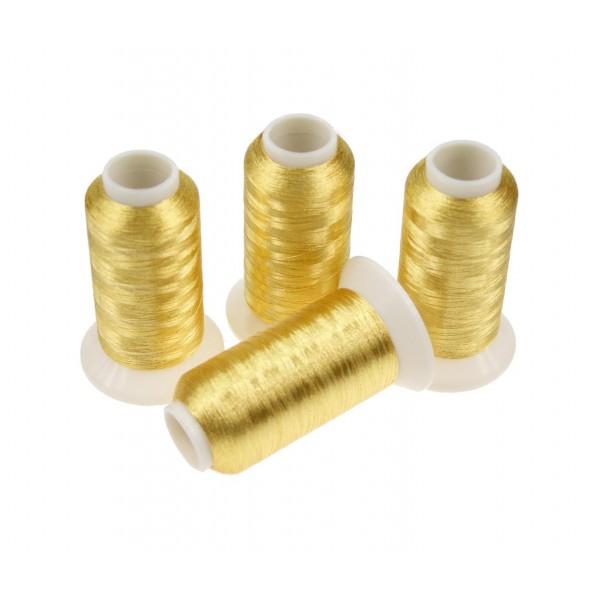 Nici metalizowane do haftu ROYAL PG001 Ciemny Złoty