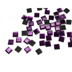 Kwadraciki szklane 6x6mm Fioletowy (Violet)