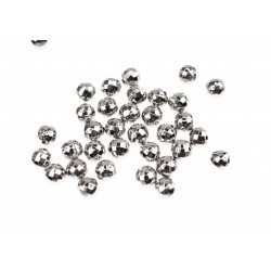 Perełki do nabijania 8mm GLOBI Srebrny (Silver) 5000 szt.