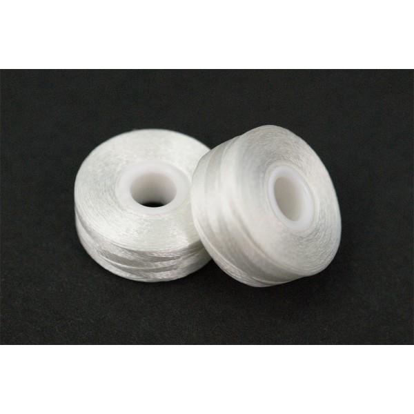 Bobbin gotowe nici dolne - spodnie do haftu na szpulce Białe