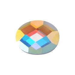 Kamienie fasetowane szklane Elipsa 10x14mm AB Crystal