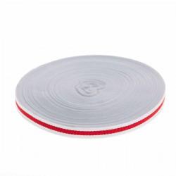 Taśma rypsowa lampasowa w paski 10mm Biało-Czerwona