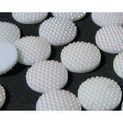 Kamienie ozdobne Pearl Dots Okrąg 16 mm