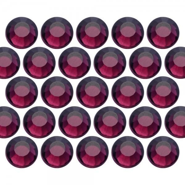 Dżety szklane SS6 (2mm) Amethyst (Ciemny Fioletowy)