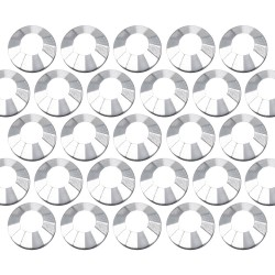 Dżety szklane SS6 (2mm) Silver Hematite