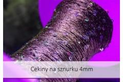 Cekiny na sznurku 4 mm