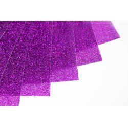 Glitter hot fix foil sheets 20x25cm SG-26 Lt. Purple 10 pcs