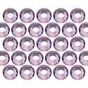 Glass rhinestone beads SS10 (3mm) Lt. Amethyst