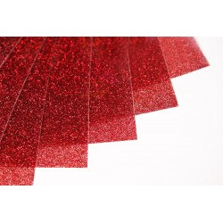 Glitter hot fix foil sheets 20x25cm SG-05 Red 10 pcs