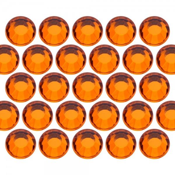 Glass rhinestone beads SS10 (3mm) Orange
