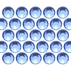 Glass rhinestone beads SS10 (3mm) Lt. Sapphire
