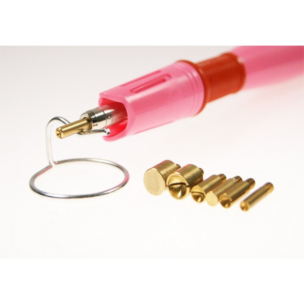 Applicator for attaching hot fix accessories