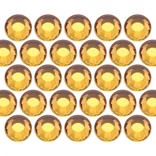 Glass rhinestone beads SS10 (3mm) Topaz