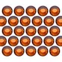 Glass rhinestone beads SS10 (3mm) Sm. Topaz