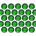 Glass rhinestone beads SS10 (3mm) Emerald