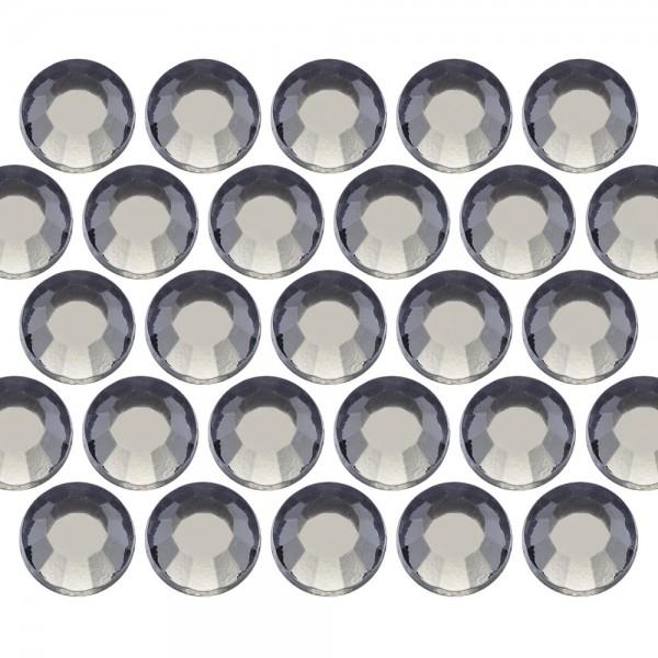 Glass rhinestone beads SS10 (3mm) Blk. Diamond